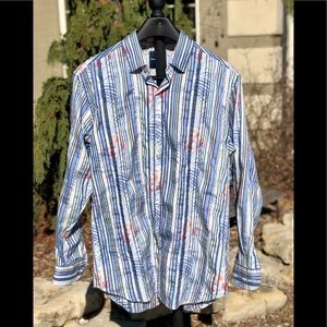 Tommy Bahama men's long sleeve button up shirt L